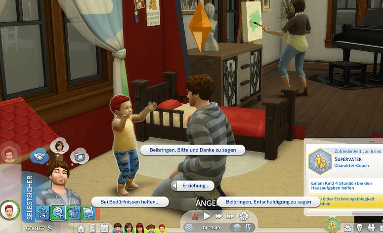 Sims 4 Brian Bringer und die Kindeserziehung - Ich bau mir meine Welt - oder wie ich der sozialen Isolation durch Sims 4 zu entkommen versuche