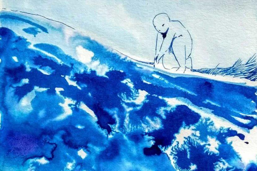 Illustration zu Marianengraben von Jasmin Schreiber by Freya Petersen