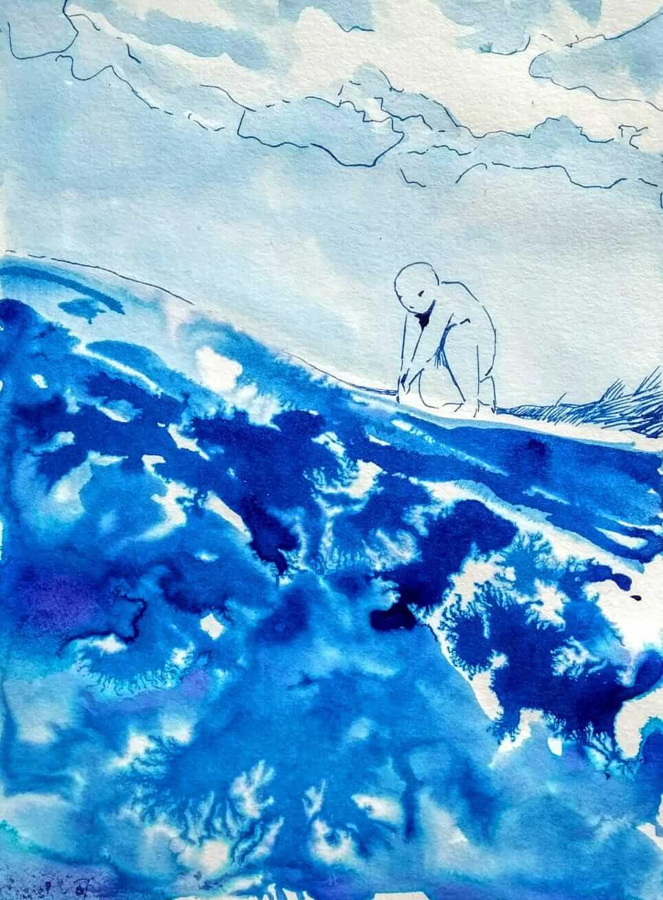 Illustration by Freya Petersen - Von Tim-Fischen und Gregor, dem gemütlichen Ganges-Hai